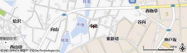 愛知県豊橋市植田町(中池)周辺の地図
