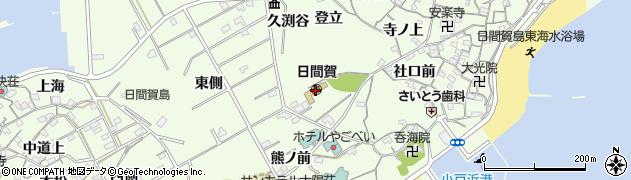 愛知県南知多町(知多郡)日間賀島(三ツ林)周辺の地図