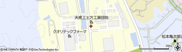 静岡県掛川市上土方工業団地周辺の地図