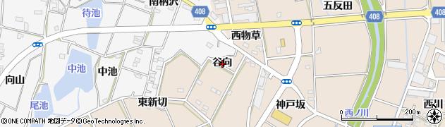 愛知県豊橋市野依町(谷向)周辺の地図