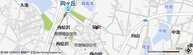 愛知県豊橋市植田町(蛤沢)周辺の地図