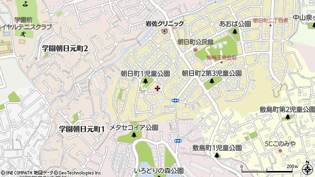 〒631-0014 奈良県奈良市朝日町の地図