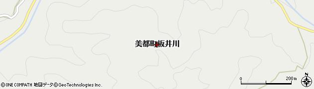 島根県益田市美都町板井川周辺の地図
