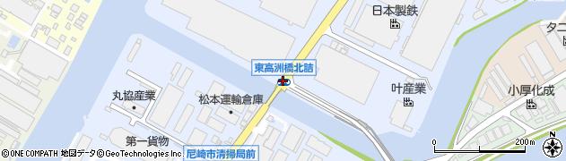 東高洲橋北詰周辺の地図