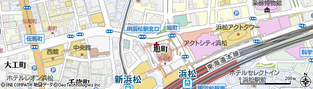 静岡県浜松市中区旭町周辺の地図