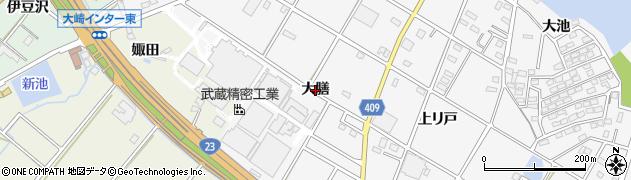 愛知県豊橋市植田町(大膳)周辺の地図