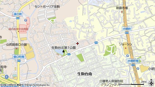 〒630-0203 奈良県生駒市生駒台北の地図