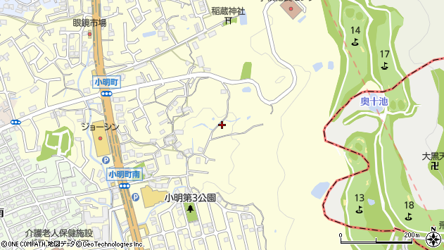 〒630-0201 奈良県生駒市小明町の地図