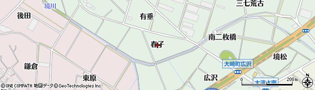愛知県豊橋市大崎町(春子)周辺の地図