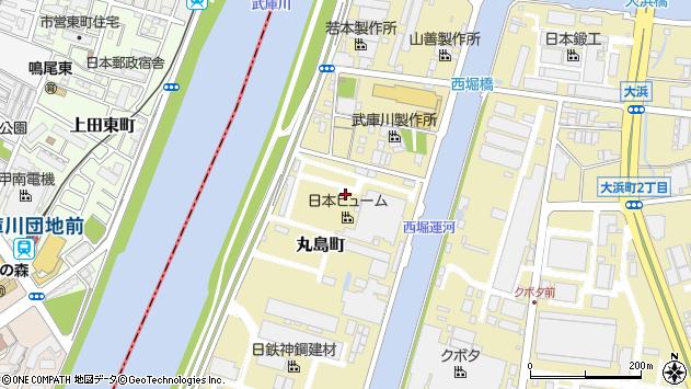 〒660-0086 兵庫県尼崎市丸島町の地図