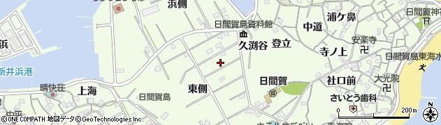 愛知県南知多町(知多郡)日間賀島周辺の地図