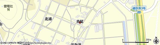 愛知県田原市浦町(青尾)周辺の地図