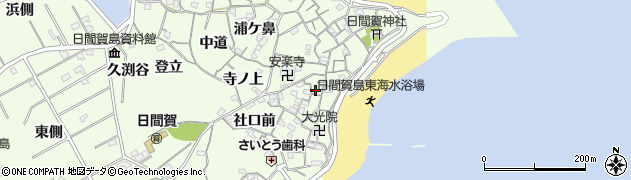 愛知県南知多町(知多郡)日間賀島(里中)周辺の地図