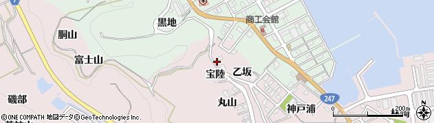 愛知県南知多町(知多郡)師崎(宝陸)周辺の地図