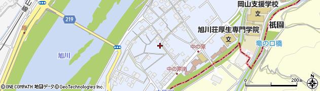 岡山県岡山市北区中原周辺の地図