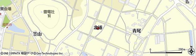 愛知県田原市浦町(北浦)周辺の地図