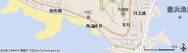 愛知県南知多町(知多郡)豊浜(西之平井)周辺の地図