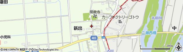 静岡県磐田市新出周辺の地図