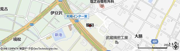 愛知県豊橋市大清水町(娵田)周辺の地図