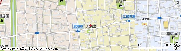 静岡県浜松市南区三和町周辺の地図