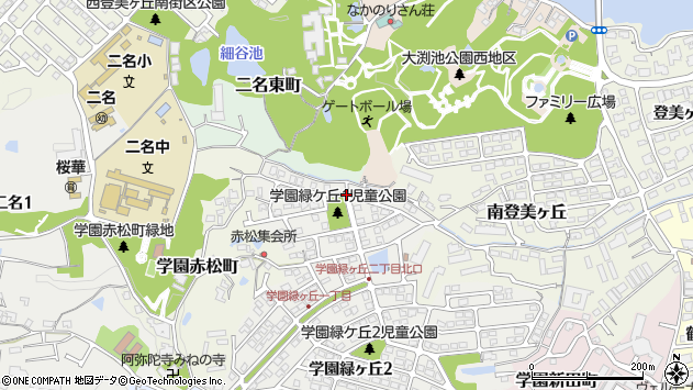 〒631-0026 奈良県奈良市学園緑ケ丘の地図