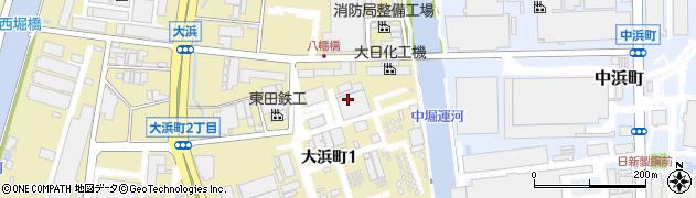 兵庫県尼崎市大浜町1丁目周辺の地図