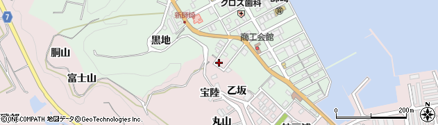 愛知県南知多町(知多郡)師崎(乙坂)周辺の地図