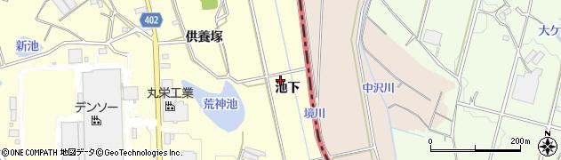 愛知県豊橋市原町(池下)周辺の地図