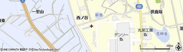 愛知県豊橋市原町(西ノ谷)周辺の地図