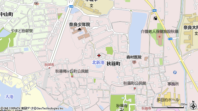 〒631-0811 奈良県奈良市秋篠町の地図