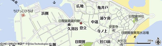 愛知県南知多町(知多郡)日間賀島(登立)周辺の地図