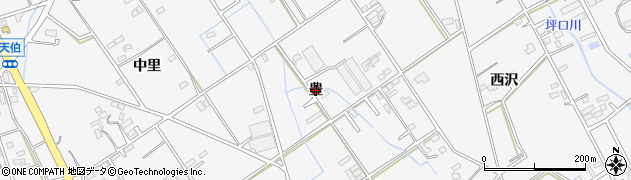 愛知県豊橋市天伯町(豊)周辺の地図