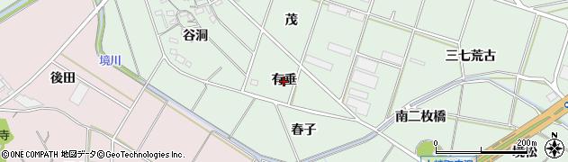 愛知県豊橋市大崎町(有垂)周辺の地図