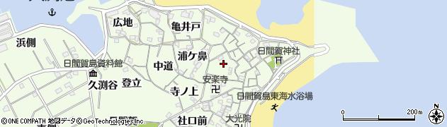愛知県南知多町(知多郡)日間賀島(名化戸)周辺の地図