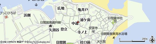 愛知県南知多町(知多郡)日間賀島(中道)周辺の地図