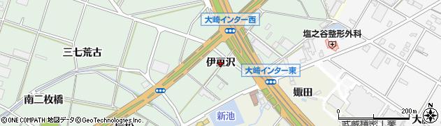 愛知県豊橋市大崎町(伊豆沢)周辺の地図