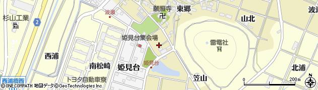 愛知県田原市波瀬町(波瀬前)周辺の地図