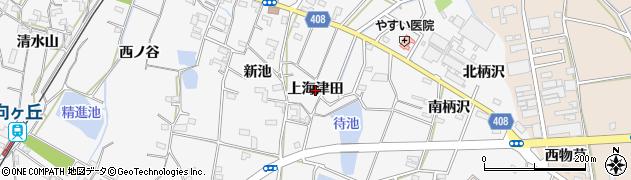 愛知県豊橋市植田町(上海津田)周辺の地図