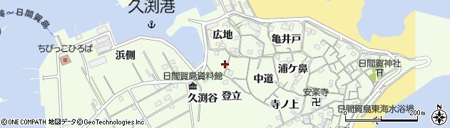 愛知県南知多町(知多郡)日間賀島(天神前)周辺の地図