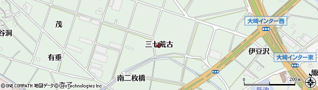 愛知県豊橋市大崎町(三七荒古)周辺の地図