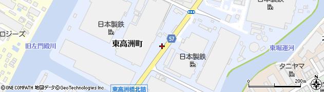 兵庫県尼崎市東高洲町周辺の地図