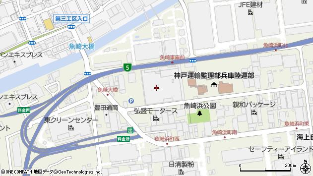 〒658-0024 兵庫県神戸市東灘区魚崎浜町の地図