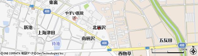 愛知県豊橋市植田町(北柄沢)周辺の地図