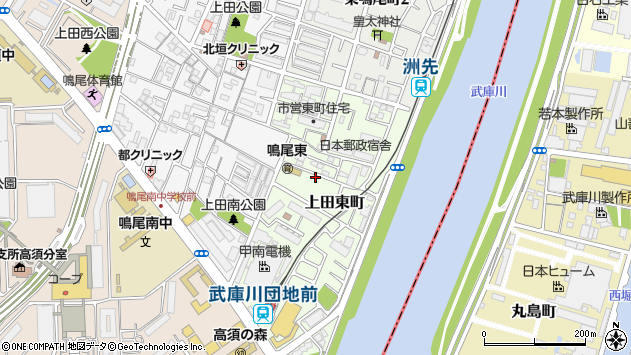 〒663-8133 兵庫県西宮市上田東町の地図