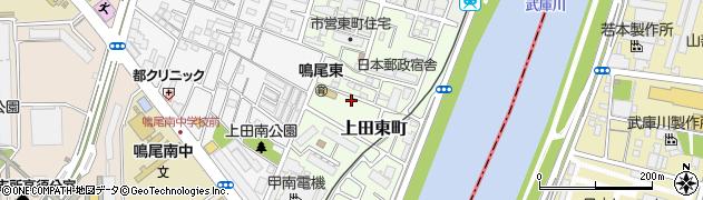 兵庫県西宮市上田東町周辺の地図