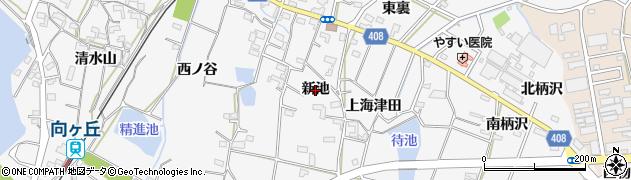 愛知県豊橋市植田町(新池)周辺の地図