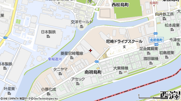 〒660-0834 兵庫県尼崎市北初島町の地図