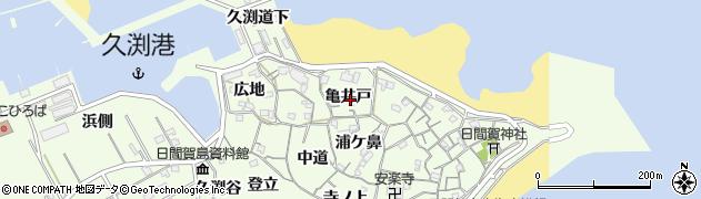 愛知県南知多町(知多郡)日間賀島(亀井戸)周辺の地図