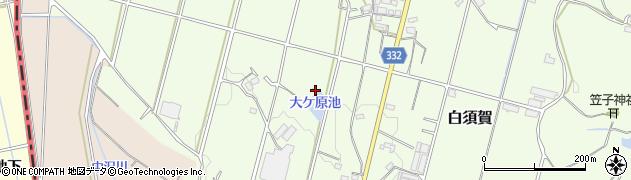 静岡県湖西市白須賀周辺の地図