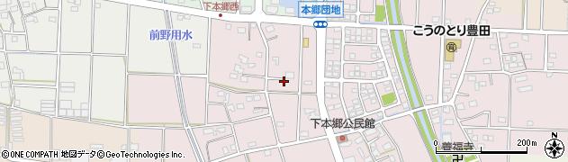 静岡県磐田市下本郷周辺の地図